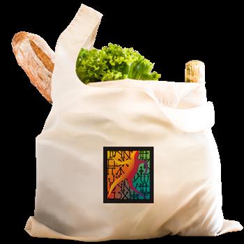 Tiferet Man Logo Reusable Shopping Bag